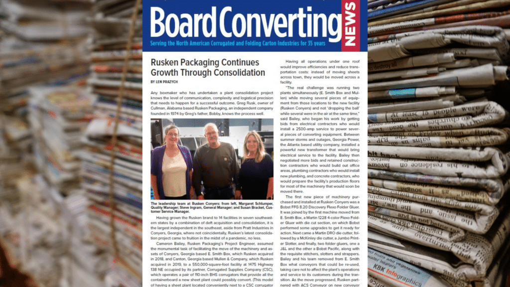 Board Converting News: Growth Through Consolidation
