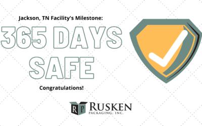Safety Milestone Achieved at Jackson, TN Facility