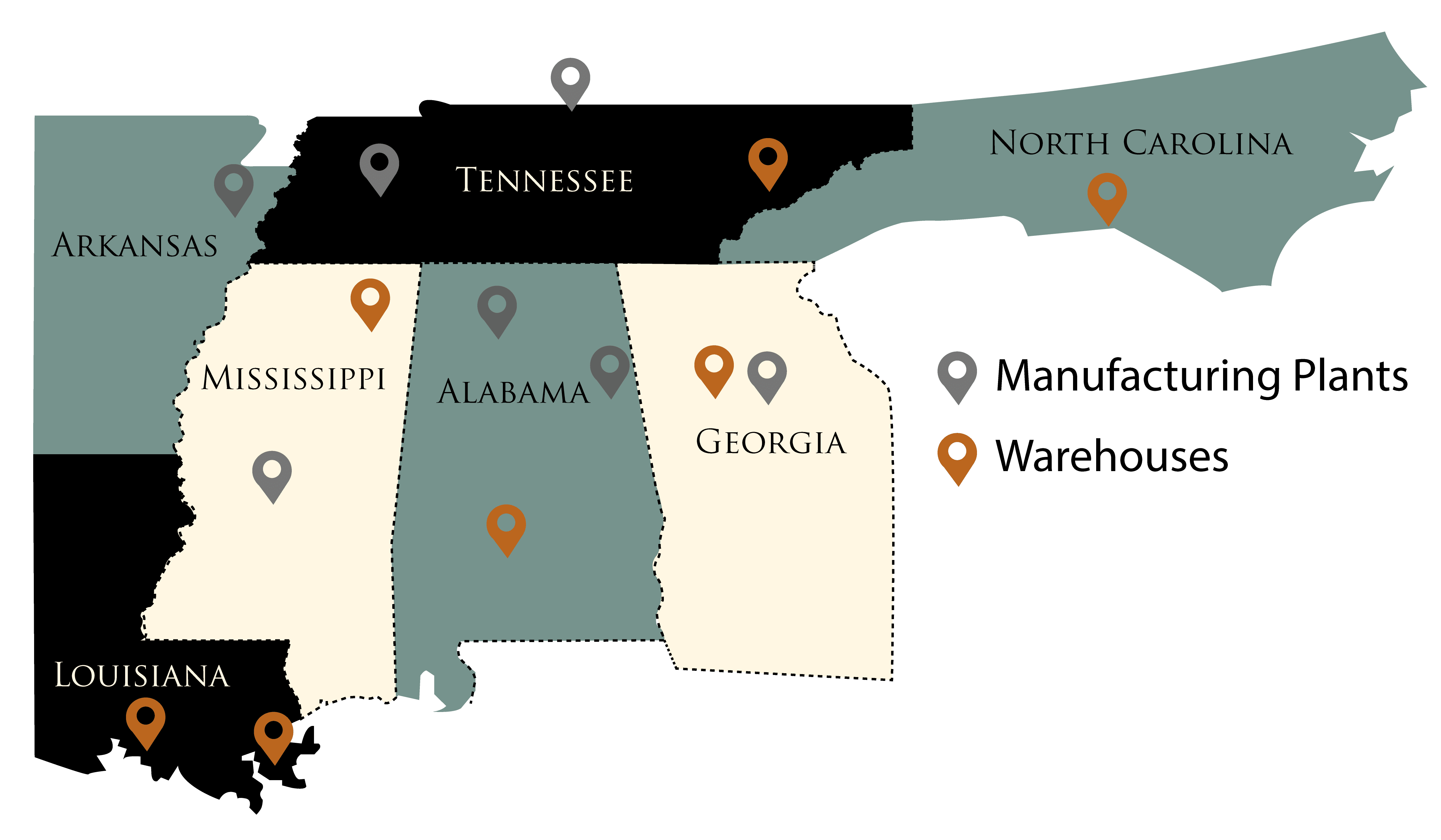 Southeast Corrugated Locations