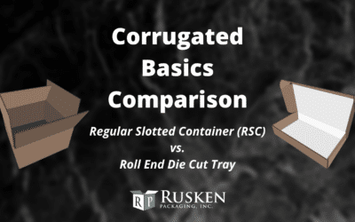 Corrugated Basics Comparison: RSC vs. Roll End Die Cut Tray