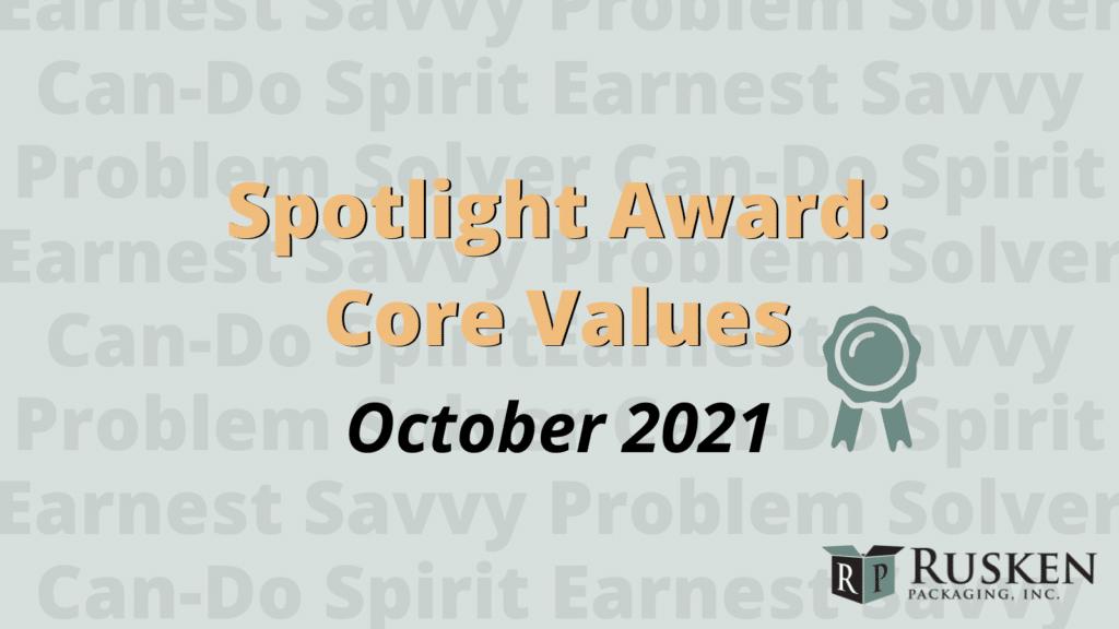 Spotlight Award October 2021